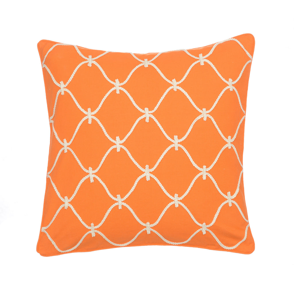 Serendipity Orange Rope Pillow