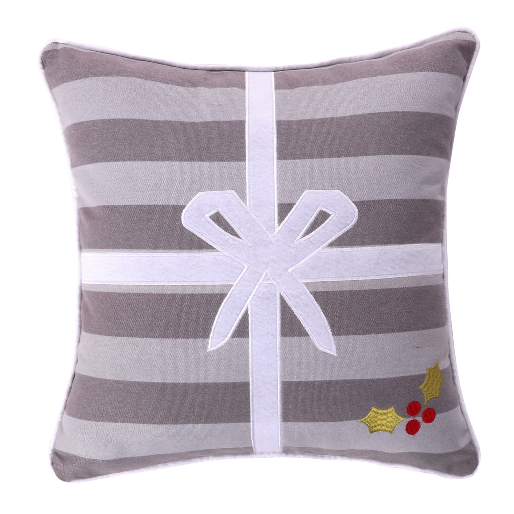 Silent Night Present Pillow