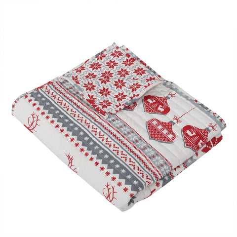 Silent Night Quilted Throw