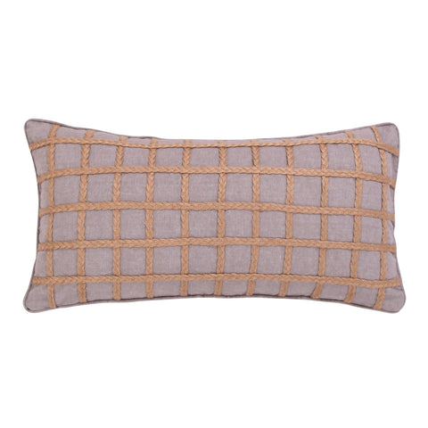 Solano Grey Rope Pillow