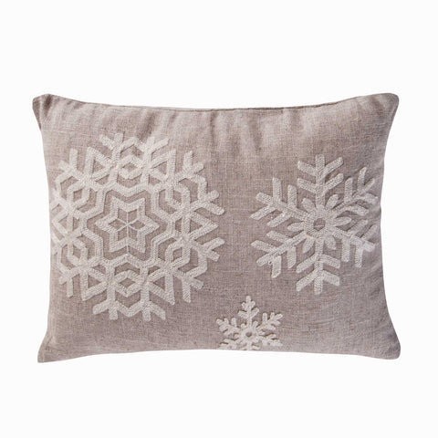 Spruce Snowflake Pillow