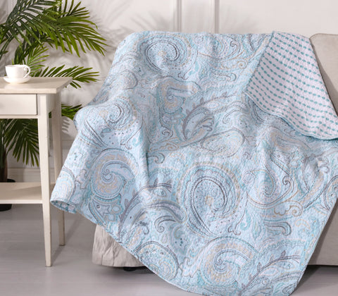 Spruce Spa Quilted Throw