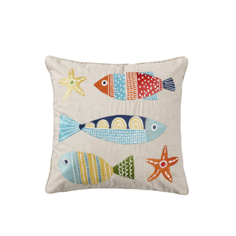 St. Anton Multi Color Fish Pillow