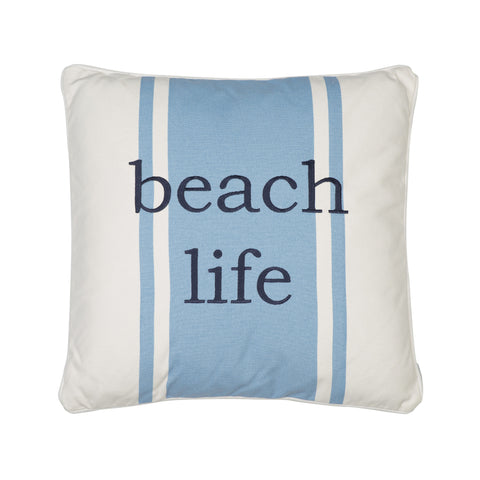 St Bart Stripe Beach Life Pillow