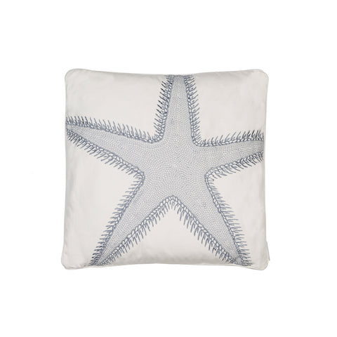 St Bart Stripe Embroidered Star Fish Pillow