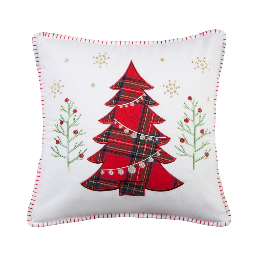 Thatch Home Spencer Plaid Tree Whipstitch Pillow