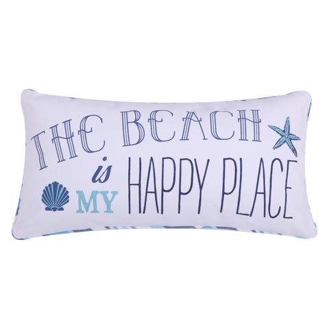 Beach Happy Place Pillow