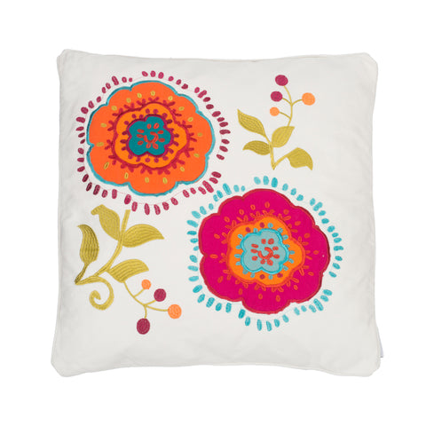 Tivoli Bone Appl. Flowers Pillow