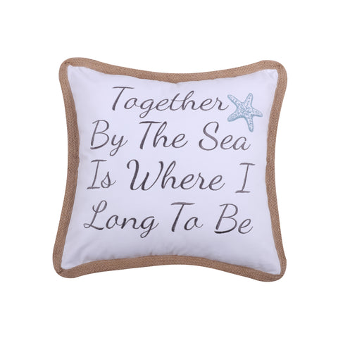 Together By the Sea Rope Pillow
