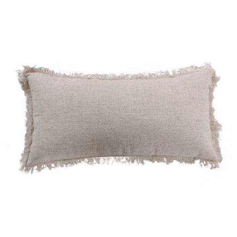Tropicana Fringe Linen Pillow