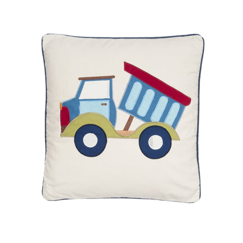 Trucks Applique Pillow