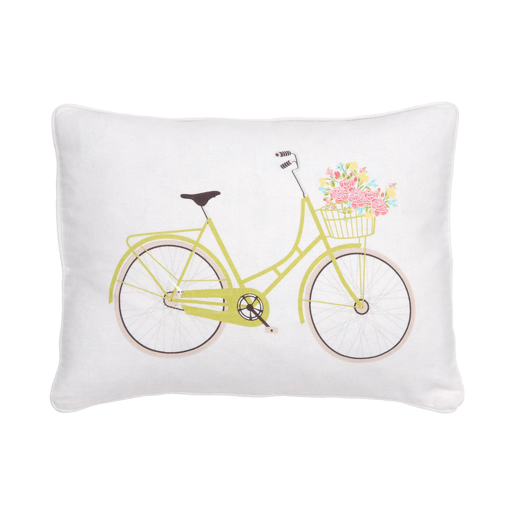 Vintage Rose Bicycle Pillow