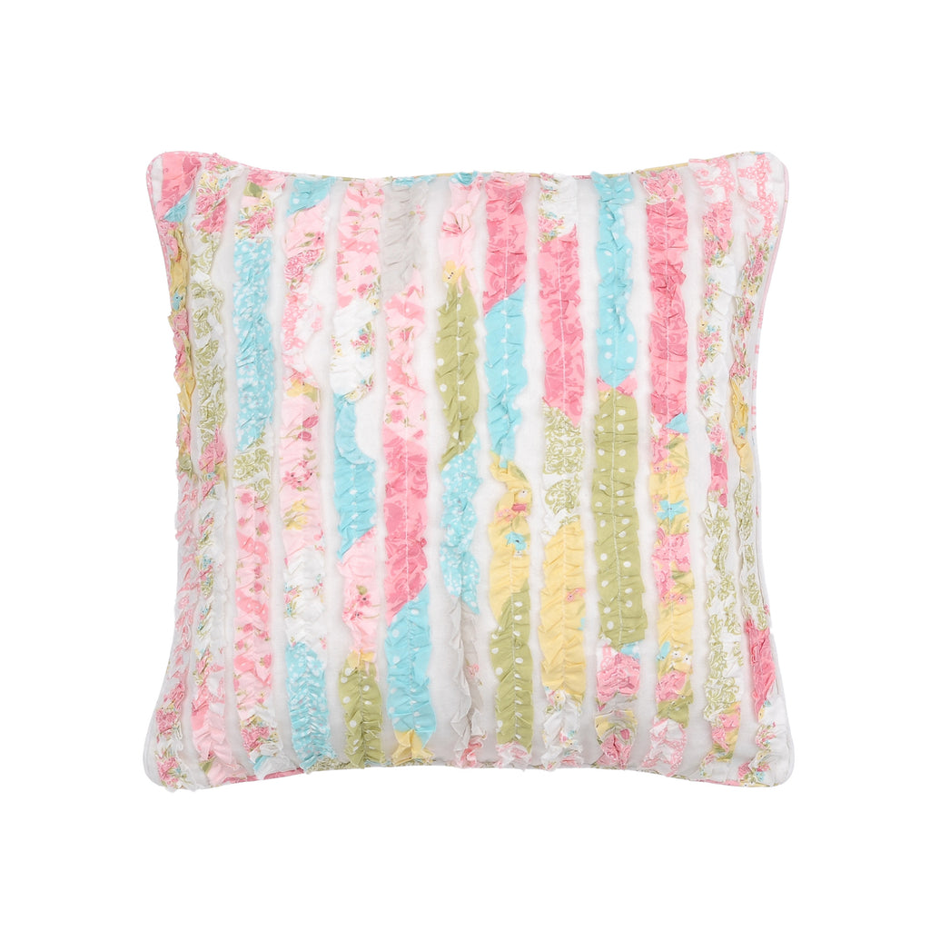 Vintage Rose Ruffled Pillow