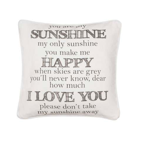 You are my Sunshine word pillow
