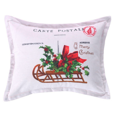 Yuletide Carte Postal  Pillow