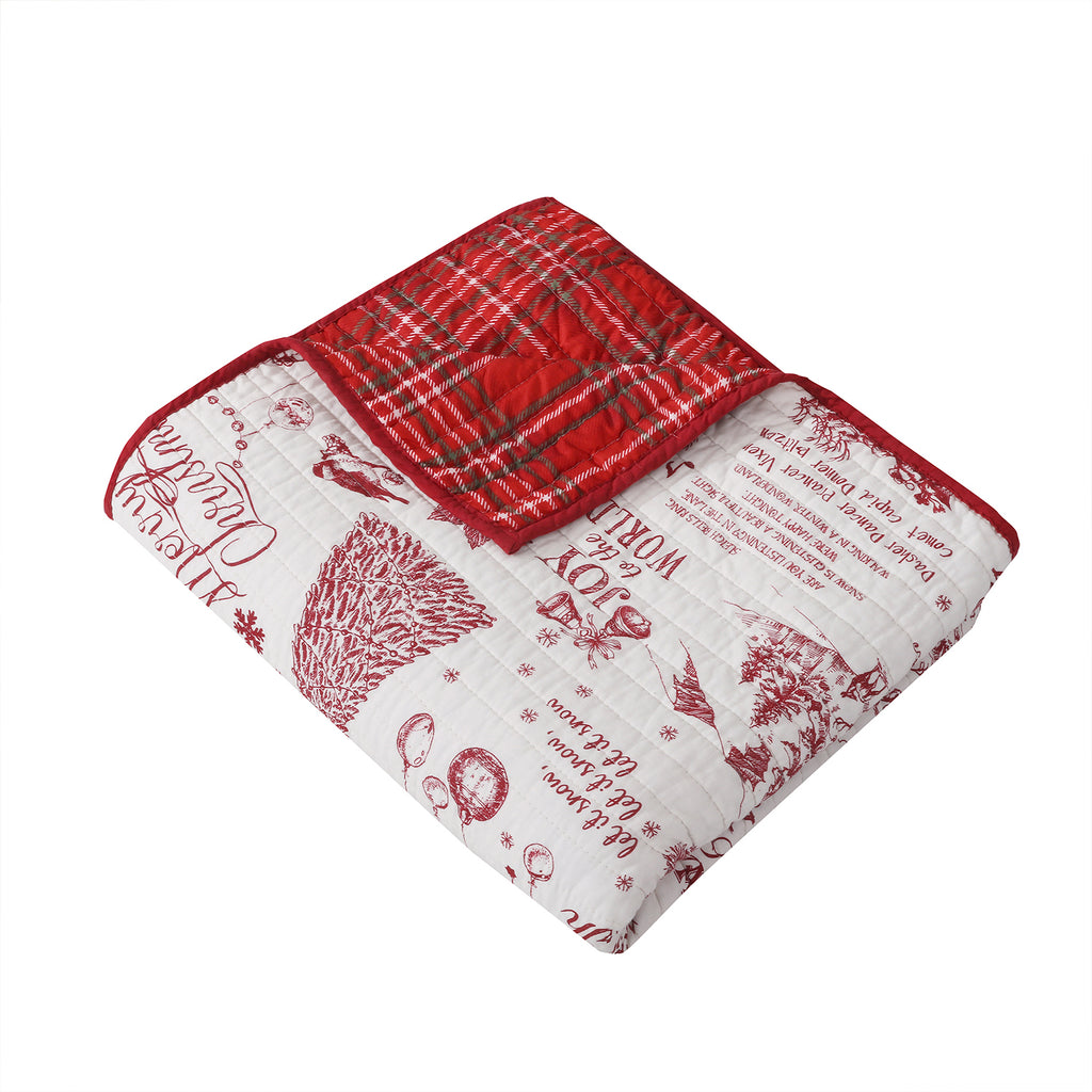 Yuletide Quilted Throw