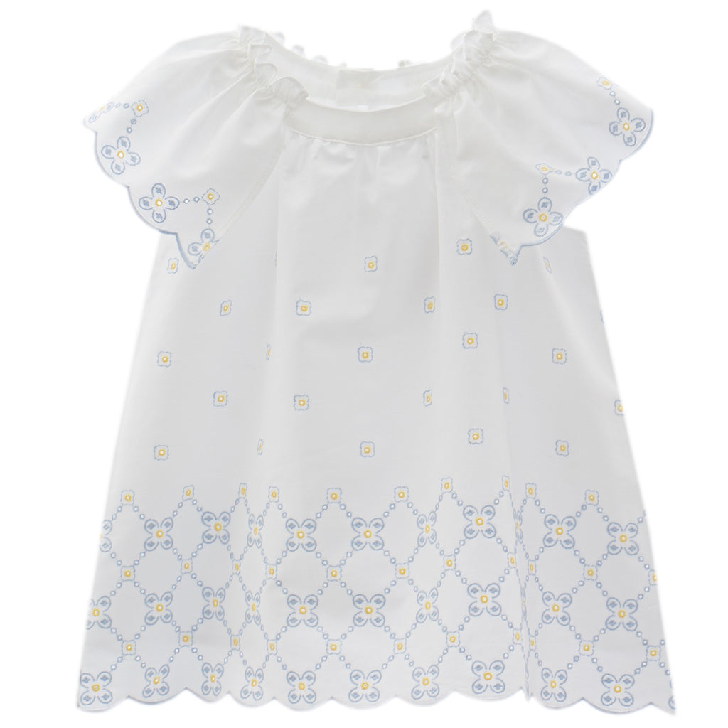 Patachou Girls White Cotton Dress