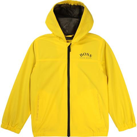 BOSS Yellow Zip Up Windbreaker