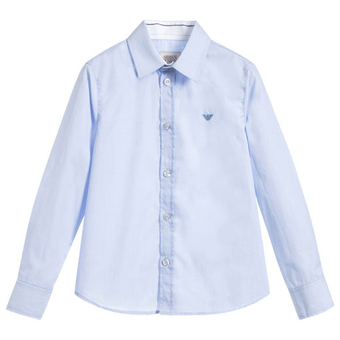 AJR  Pale Blue Cotton Shirt