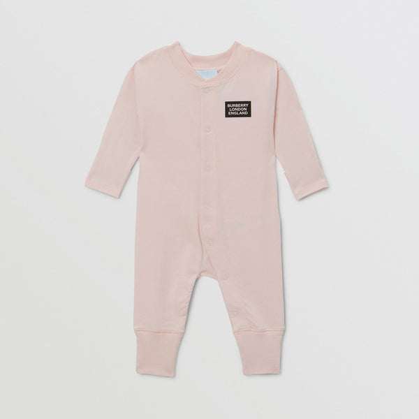 Burberry Pink Organic Cotton Three-piece Baby Gift Set