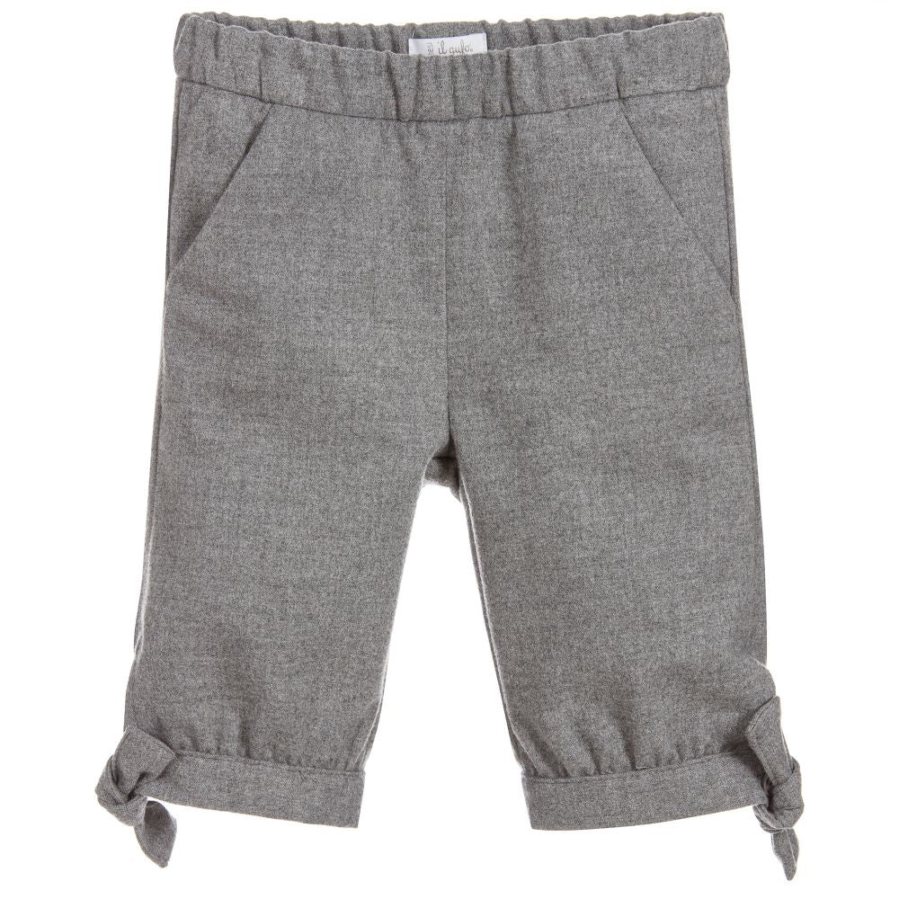 IL GUFO Grey Viscose Trousers