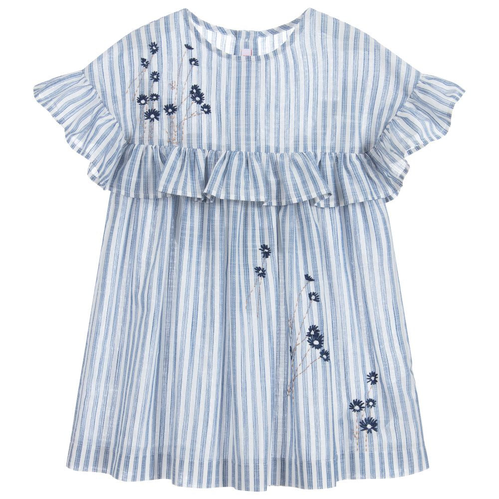 Il Gufo Blue Stripe Dress
