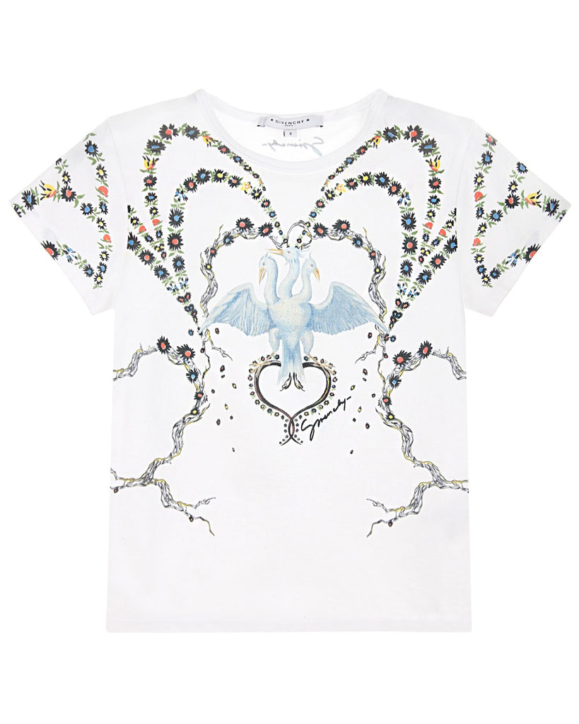 Givenchy Girls Floral Cotton Tshirts