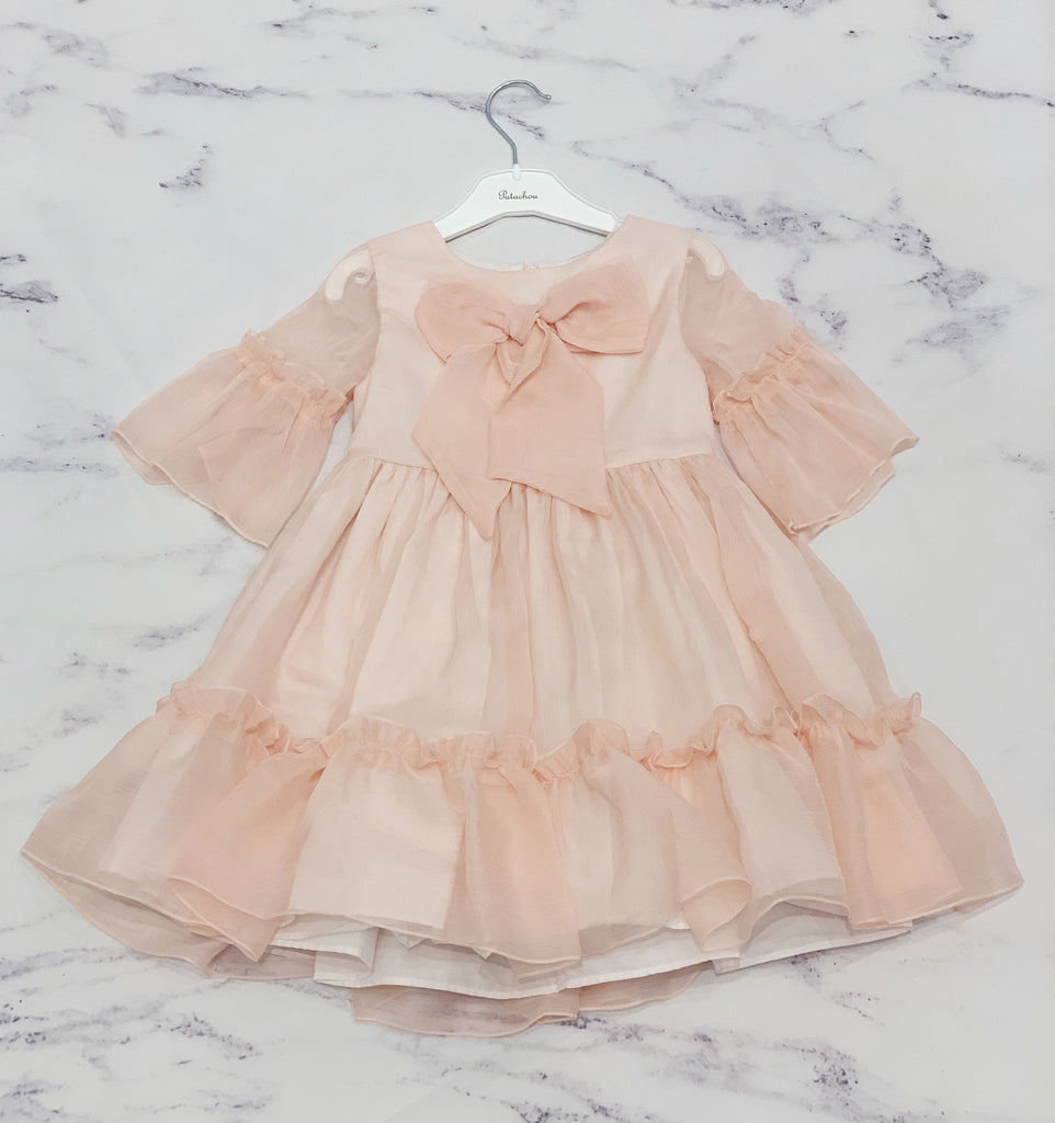 Patachou Pink Chiffon Dress