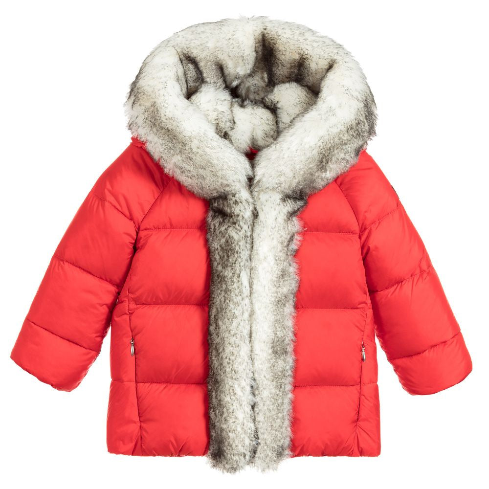 IL GUFO Red Down Puffer Jacket
