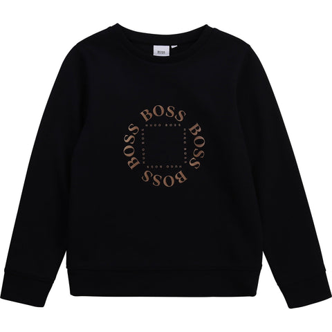 BOSS Circle Logo Mini Me Sweatshirt