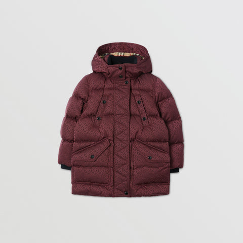 Burberry Detachable Monogram Puffer Coat