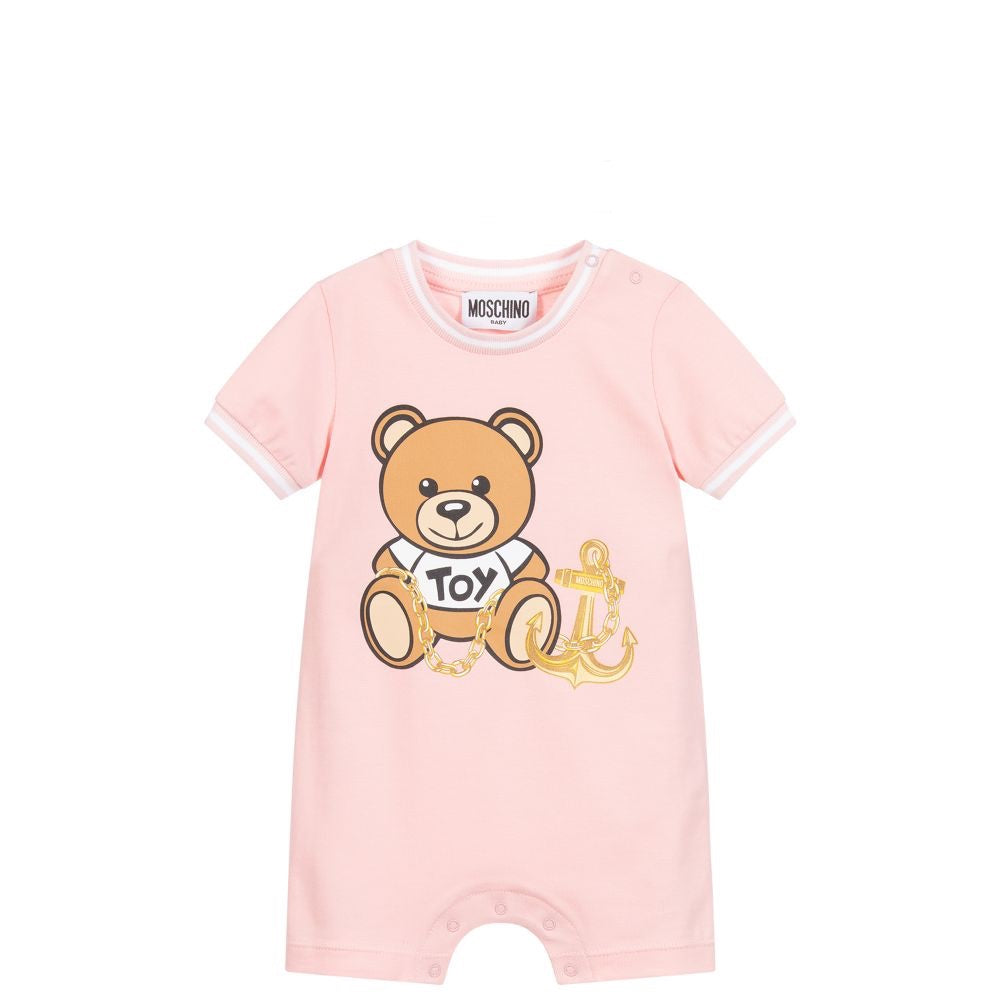 Moschino Baby Pink Pirate Teddy Shortie