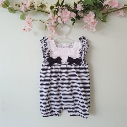 Patachou Baby Girl Striped Romper