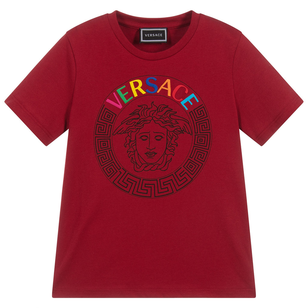 Versace Embroidered Logo Tshirt
