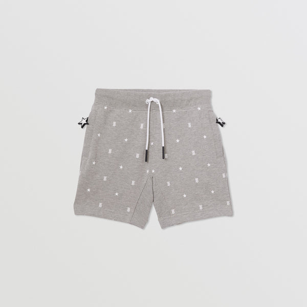 Burberry Star and Monogram Print Cotton Drawcord Shorts