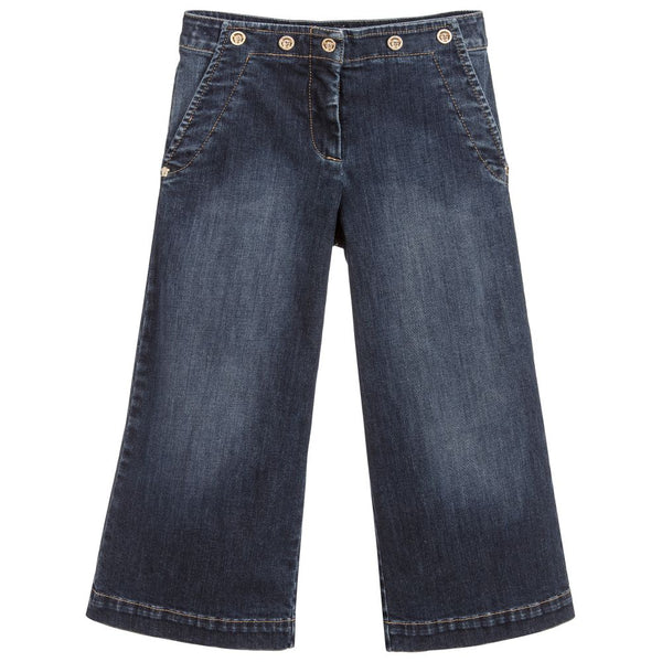 Versace Wide Leg Denim Jeans