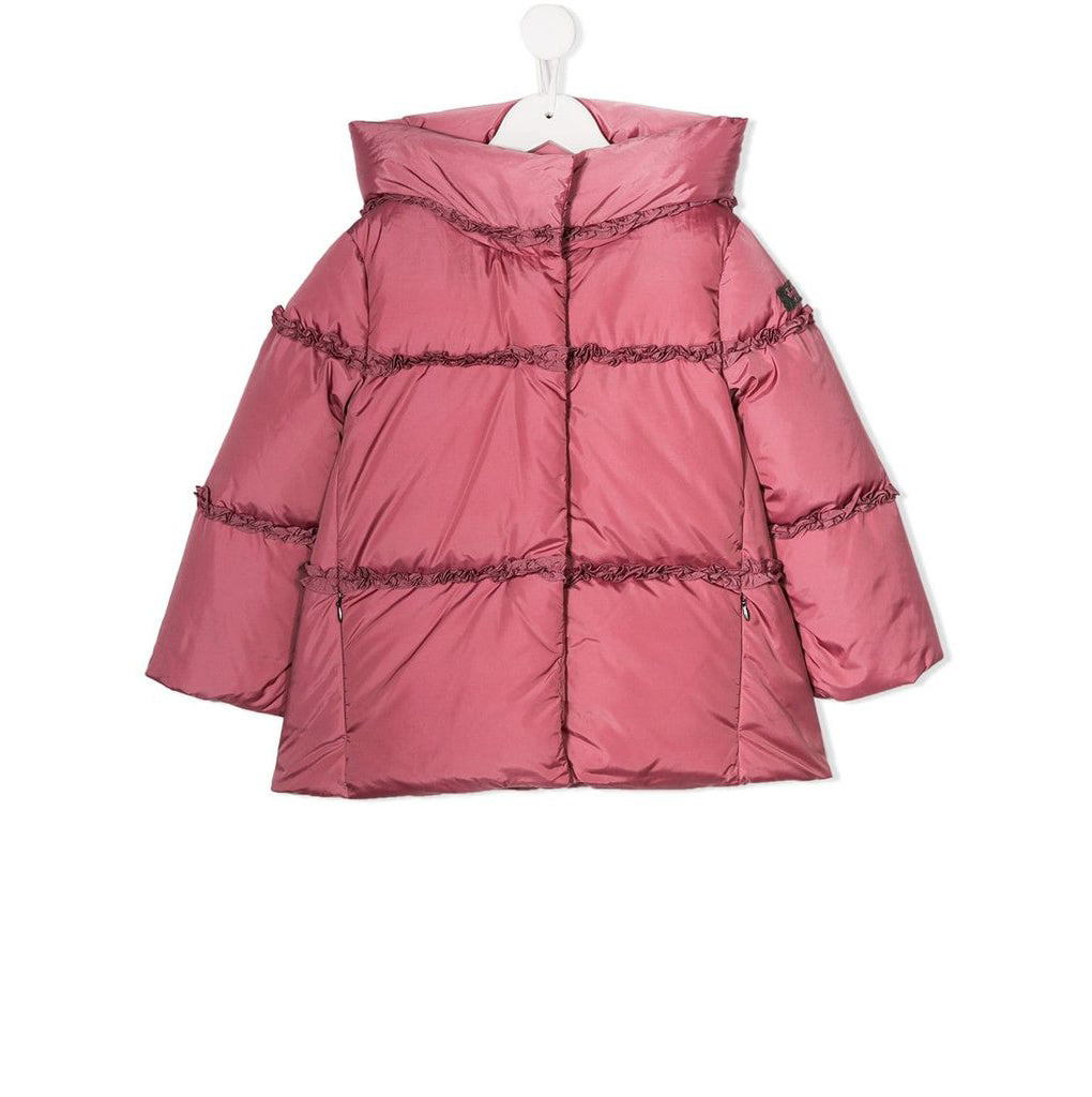 Il Gufo Girl Heather Pink Down Jacket