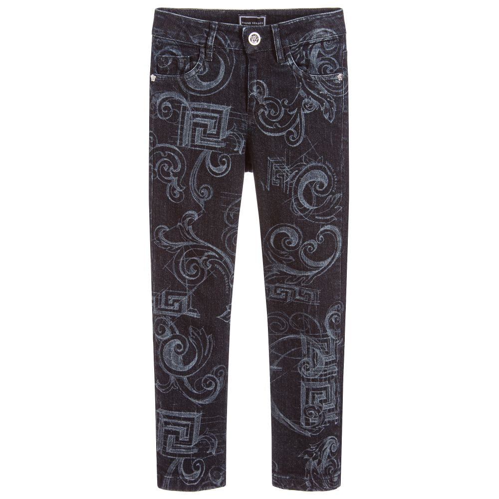 Versace Straight-Fit Baroque Jeans