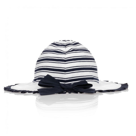 Patachou Baby Girls White & Blue Hat