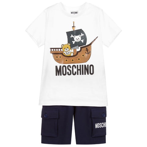 Moschino Pirate Teddy Bear Shorts Set