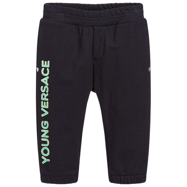 Versace Blue Cotton Joggers