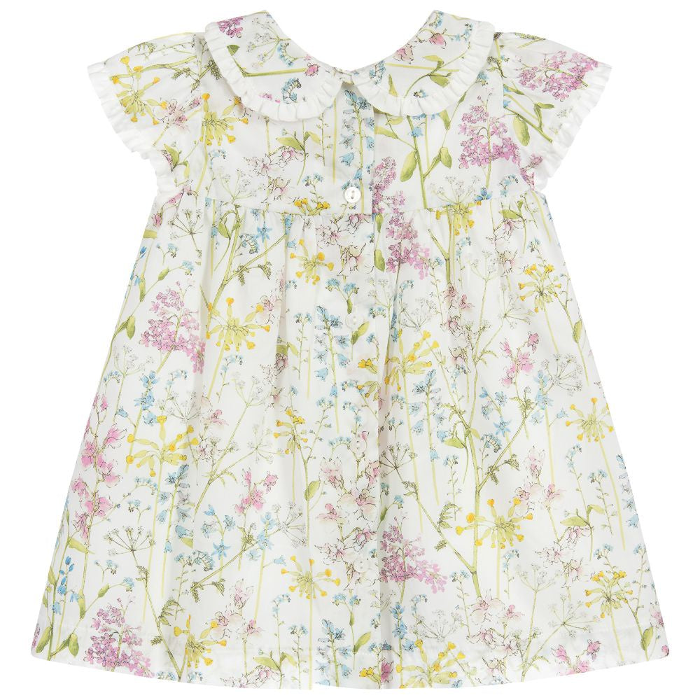 Patachou Ivory Flower Print Dress
