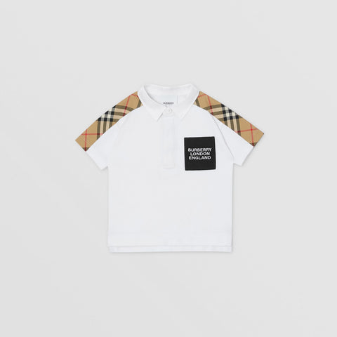 Vintage Check Panel Cotton Piqué Polo Shirt