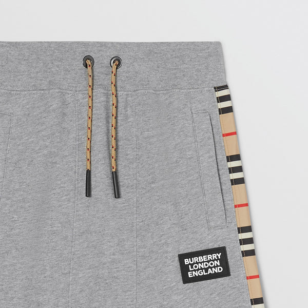 Burberry Icon Stripe Panel Cotton Trackpants