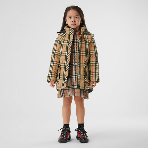 Burberry Vintage Check Down-filled Hooded Coat