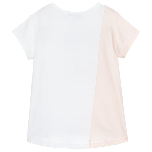 Givenchy White and Pink Logo T-shirt