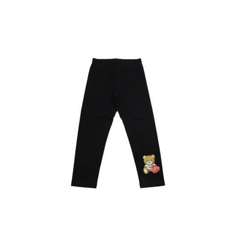 Moschino Girls Black Teddy Legging