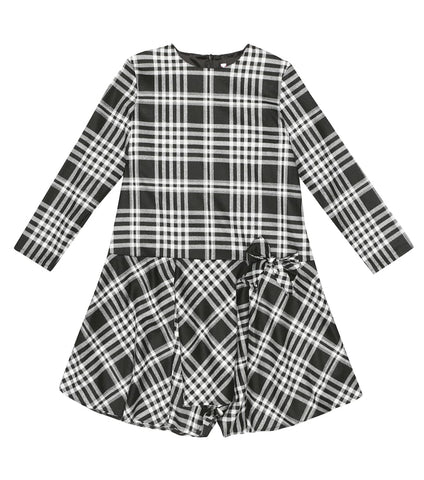Il Gufo Black Check Dress