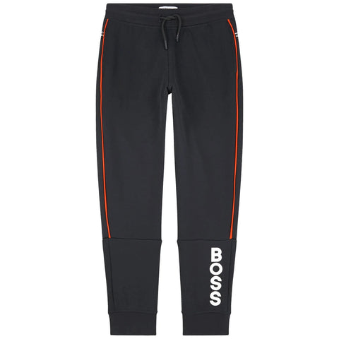 BOSS Black Cotton Logo Sweatpants