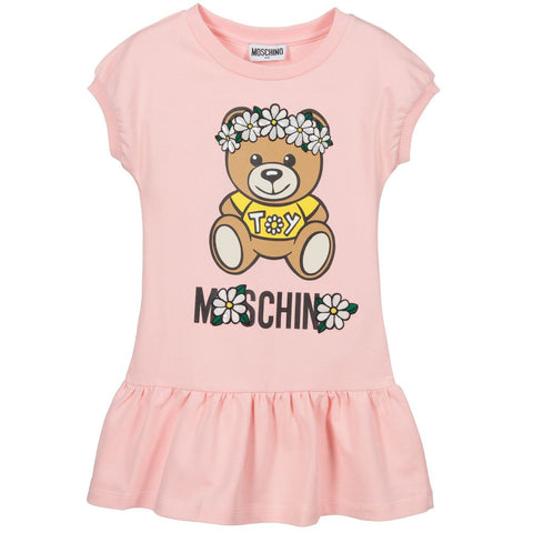 Moschino Flower Bear Print Dress